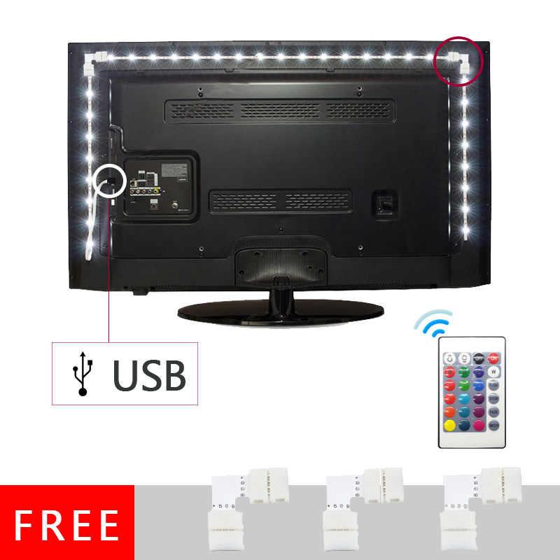 USB LED רצועת מנורת 2835SMD DC5V גמיש LED אור קלטת סרט 1M 2M 3M 4M 5M HDTV טלוויזיה שולחן עבודה מסך תאורה אחורית הטיה תאורה