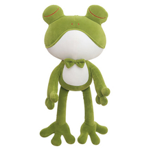 Eyes closed frog plush doll cute child birthday gift girl cartoon baby soothes