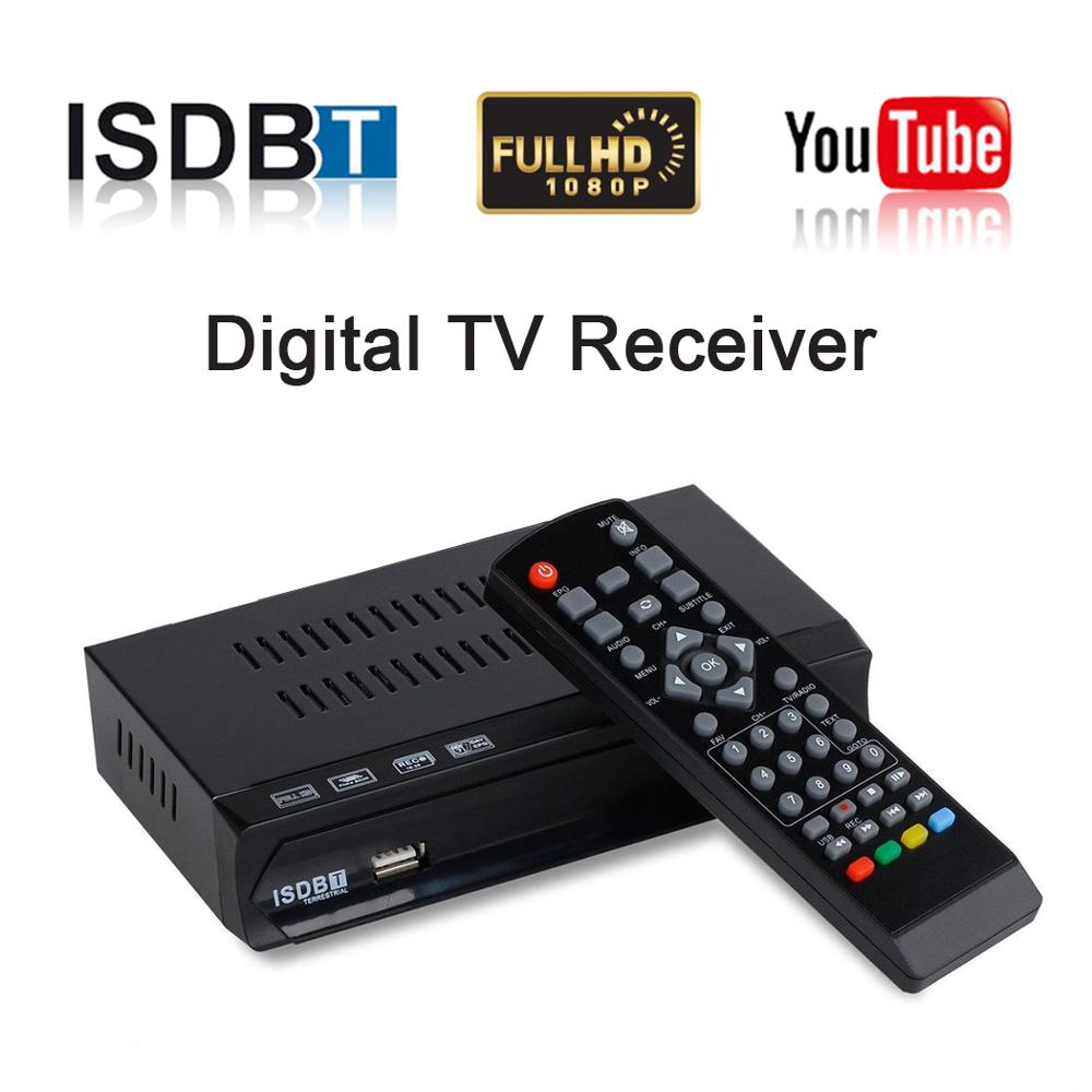 Digital Terrestrial ISDB-T TV Tuner Receiver ISDB T Set Top Box TDT Full HDTV USB Recorder H.264 For VHF UHF Antenna Peru Brasil