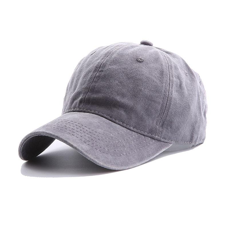 Solid Spring Summer Cap Women Ponytail Baseball Cap Fashion Hats Men Baseball Cap Cotton Outdoor Simple Vintag Visor Casual Cap 17