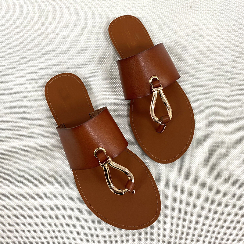 2021 New Fashion Women Slippers Summer Shoes Woman Retro Thin Straps Open Toe Plus Size Slippers