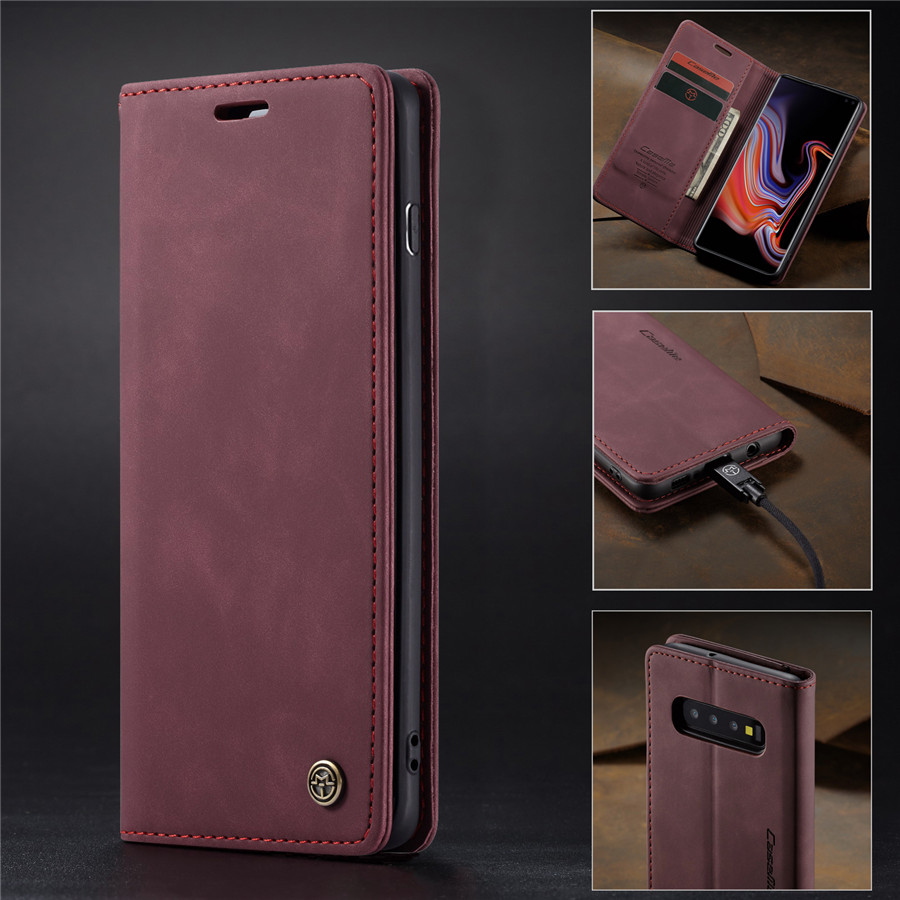 Retro <font><b>Leather</b></font> <font><b>Flip</b></font> <font><b>Case</b></font> For <font><b>Samsung</b></font> S7 S9 S8 S10 Plus Cover Luxury Magnetic Card Holder <font><b>Wallet</b></font> <font><b>Case</b></font> For <font><b>Samsung</b></font> A50 A70 A40 <font><b>case</b></font> image