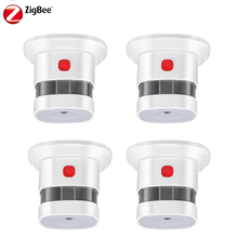 HAOZEE Smart Home Drahtlose Zigbee Smart Anti-feuer Alarm Rauch Sensor rauchmelder Power Batterie Betrieben 4 teile/los