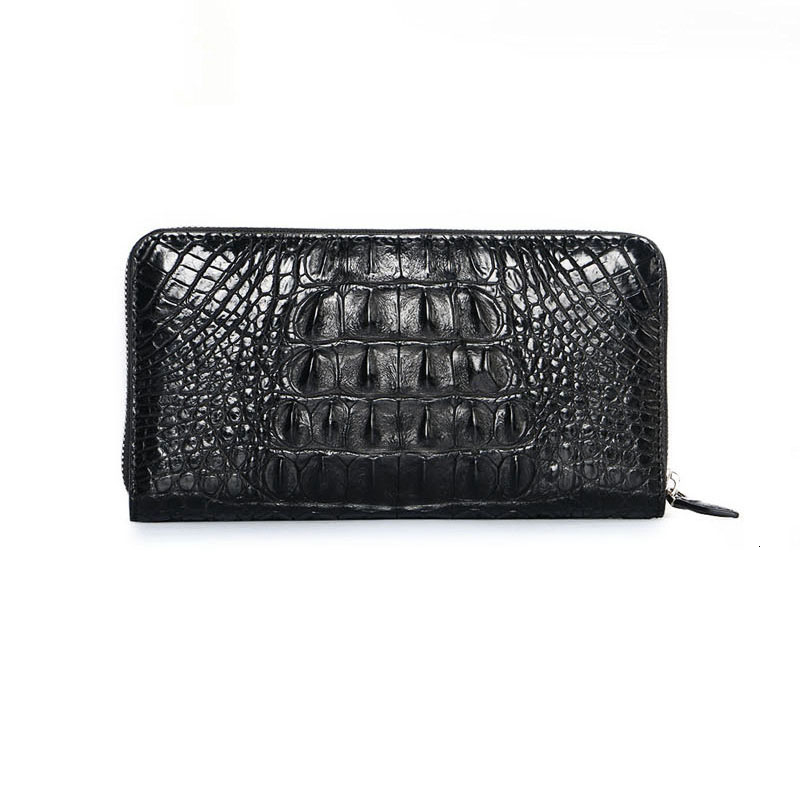luxury crocodile handbag real fashionable leather wallet man's water-proof card dinero bolsa hombre Vintage negro corto monedero