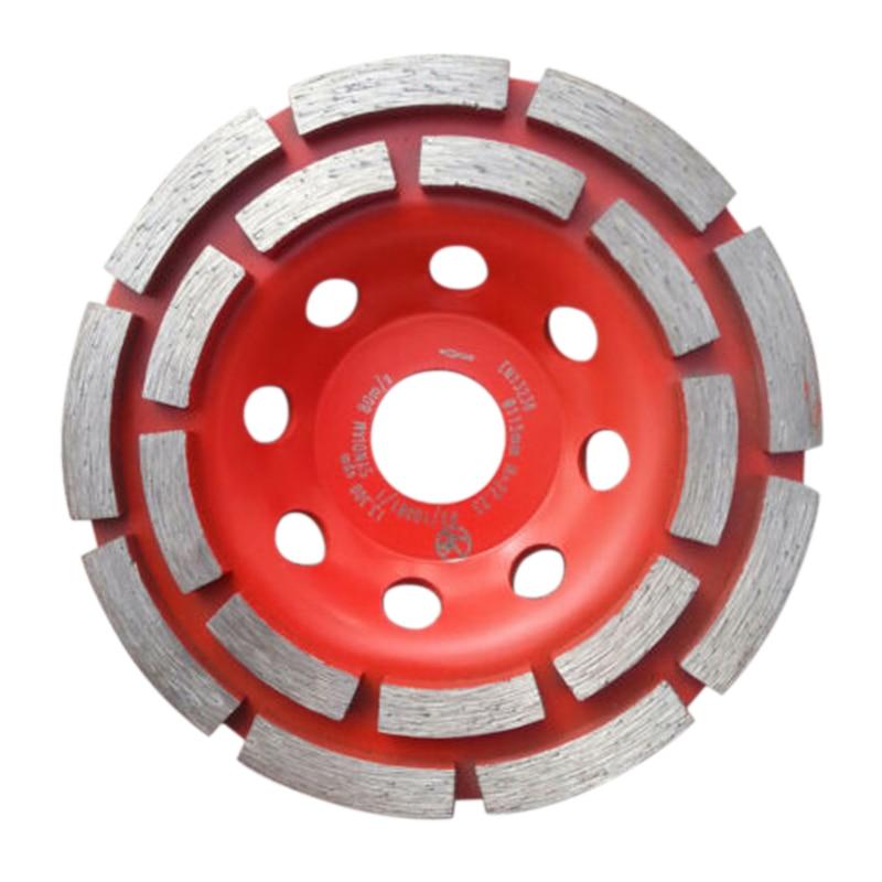 1set 5 Inch Diamond Grinding Wheel Disc Double Row Diamond Grinding Cup Wheel Concrete Screed Stone Angle Grinder Tool