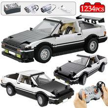 1234pcs cidade de controle remoto supercar moc blocos de construção technica rc/não-rc drift racing carro tijolos brinquedos para crianças