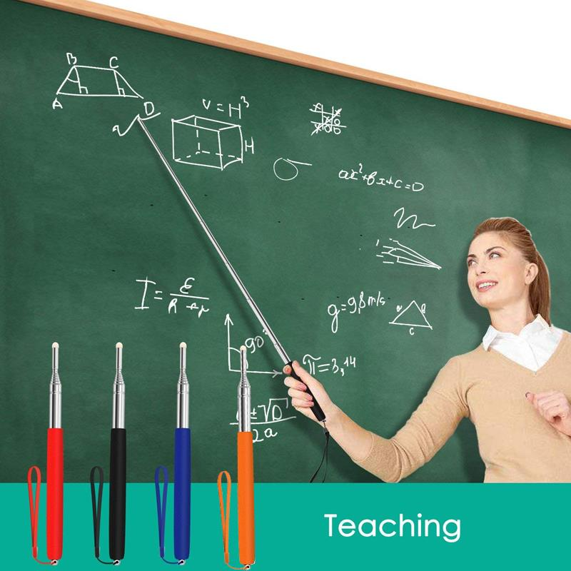 Teacher Pointer Soft Professional 1 Meter Stainless Steel School Tool Telescopic Pointer Supplies Whiteboard