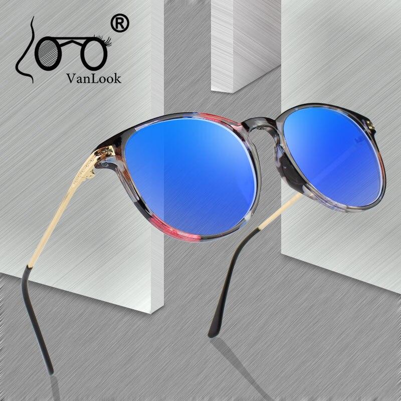 Óculos de computador feminino óculos redondos transparentes para homem armação de óculos de grau moda lentes claras anti azul ray