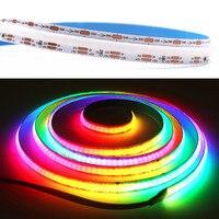 5V Magic RGB COB LED Strip programmabile indirizzabile FOB LED Light Bar Mobile APP Control RGBW USB DC5V alimentato 320LEDs/M 0.5M 1M