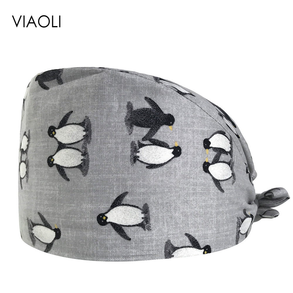VIAOLI Men Women Medical Scrubs Pharmacy Work Cap Surgery Nurse Hat Oral Cavity Dental Clinic Pet Veterinary Surgical Cap101