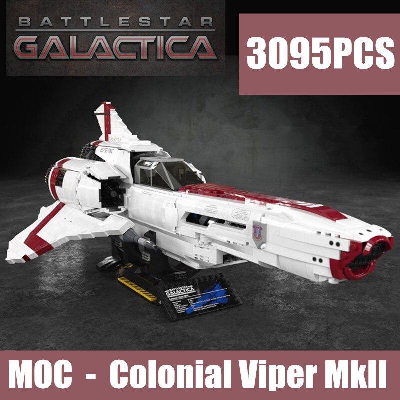 New MOC-9424 Star Plane The Battlestar Galactica Wars MOC Colonial Viper MKII Fit Legoings Technic Building Block Bricks Kid Toy