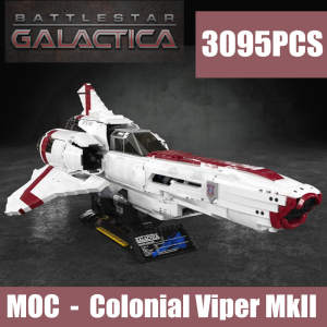 Toy Bricks Building-Block Plane Legoings Battlestar Galactica Viper Technic Colonial