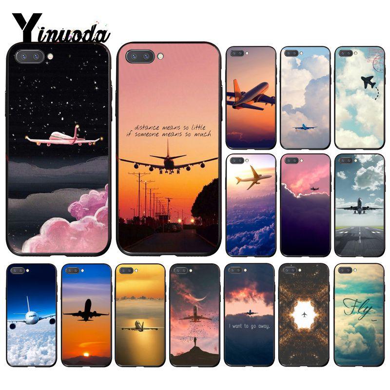 Чехол Yinuoda для телефона для путешествий с самолетом и облаком для Huawei Honor 8A 8X 9 10 20 Lite 7A 5A 8A 7C 10i 9X pro Play 8C