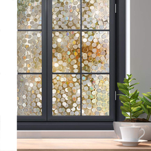 3D Clear Circle Decor Stained Glass Window Film Rainbow Effect Removable Self Adhesive Sticker Static Cling