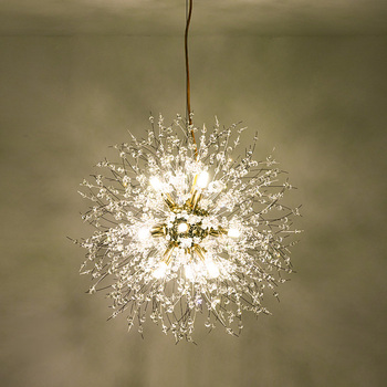 Fss Crystal Round Dandelion Design Chandelier Lighting For Living Room Bedroom Lustre Kitchen Chandelier Indoor Light Fixtures oval design modern crystal chandelier living lighting ac110v 220v gold lustre dinning room light fixtures