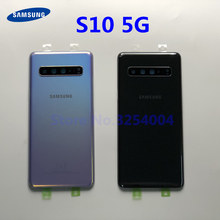 Original For Samsung Galaxy S10 5G version G977 G977F G977B Back Glass Battery Cover Rear Door Housing Case Back Glass Cover