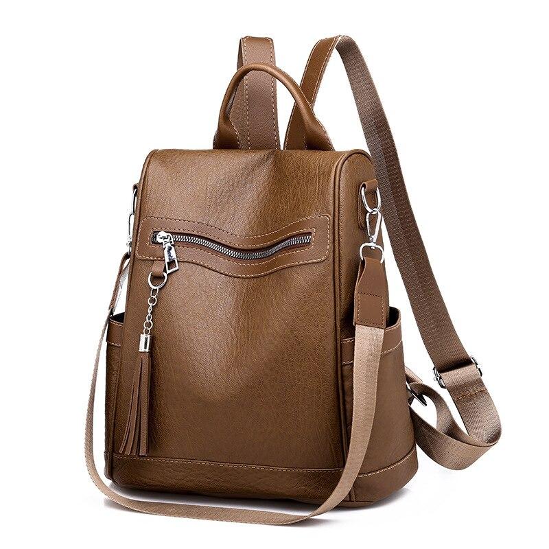 2020 новый рюкзак женский корейский стиль персонализированный Универсальный меховой шар большая Вместительная дорожная сумка легкая водонепроницаемая Студенческая-3
