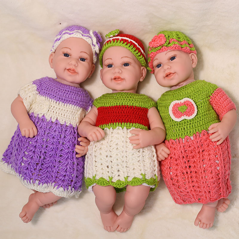 45CM Sweater Baby Reborn Dolls Girls Toy No Function Soft Body Silicone Smile Face Life like Real Baby Doll Toys For Kids Gifts