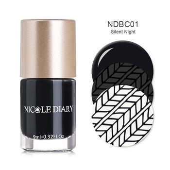 """Βερνίκια νυχιών για στάμπες"""" nicole diary"""""""
