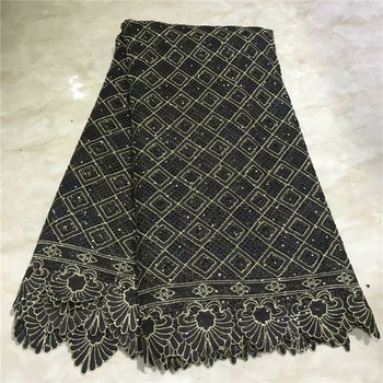 Latest African Laces fabric Gold fabric stones Nigerian Wedding Lace New French guipure Lace Fabric High quality lace 2L4-78