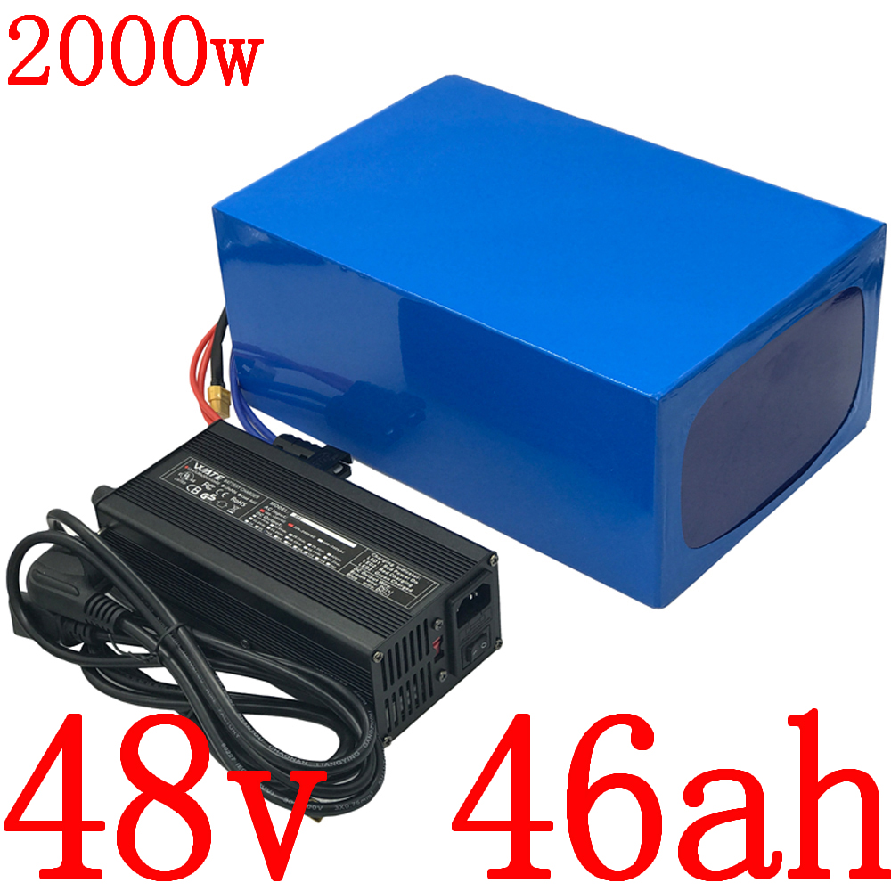 48V Lithium battery 48V 1000W 1500W 2000W electric scooter battery 48V 45AH Lithium ion battery pack 48V electric bike battery