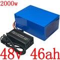 48V batteria Al Litio 48V 1000W 1500W 2000W scooter elettrico batteria 48V 45AH agli ioni di Litio batteria 48V batteria elettrica della bici