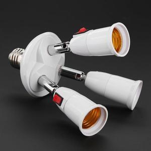 Image 3 - E27 ספליטר 3/4 ראשי מנורת בסיס מתכוונן LED אור הנורה מחזיק מתאם ממיר שקע אור הנורה
