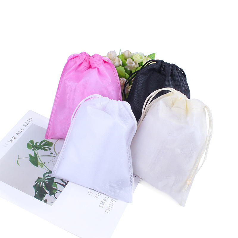 50pcs/lot 25x36cm Big Drawstring Travel Shoes Storage Bag Non-Woven Organizer Portable Package Bags Can Personalize Custom Logo