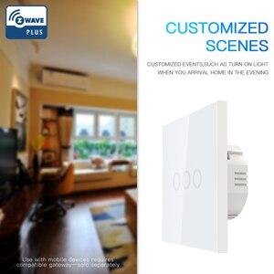 Image 2 - NEO COOLCAM 3CH Z wave Plus 벽 조명 스위치 3 Gang Home Automation 벽 조명 스위치 터치 컨트롤 EU 868.4MHZ