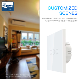 Image 2 - NEO COOLCAM 3CH Z wave Plus Wall Light Switch 3 Gang Home Automation Wall Light Switch Touch Control EU 868.4MHZ