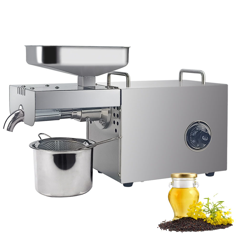 CE Certification Mini Home Oil Press Machine Cold Hot Oil Extractor For Peanut Coconut Automatic Stainless Steel Oil Expeller