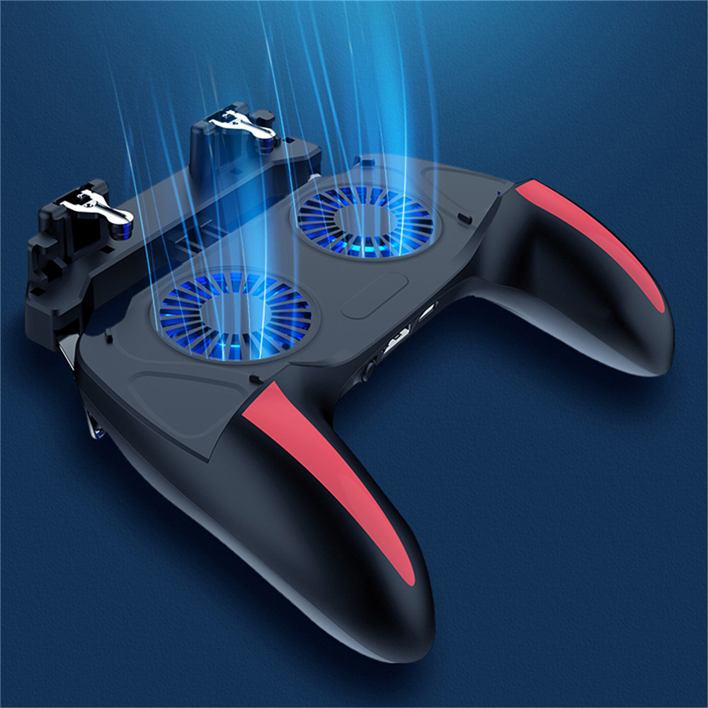 Mobile Phone PUBG Gamepad Double Fans Radiating Controller for iphone Android IOS Smart Phones Simulated Trigger Button Gamepads