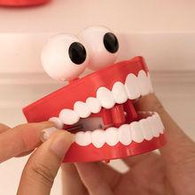 Chain funny big teeth wind up teeth creative new strange tricky desktop ornaments.