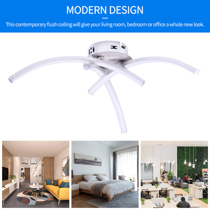 Image 2 - Luces de LED de techo modernas lámparas de satén modernas candelabro sala de estar, dormitorio luz hogar interior Deco AC85 265V