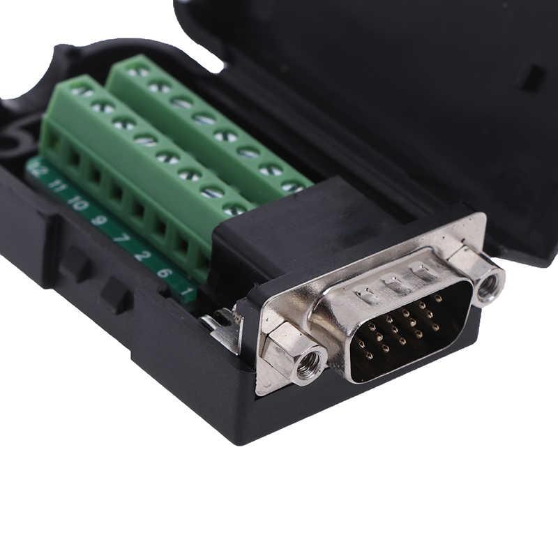D-SUB DB15 VGA Male 3 Rows 15 Pin Plug Breakout Terminals ConnectoYJUS