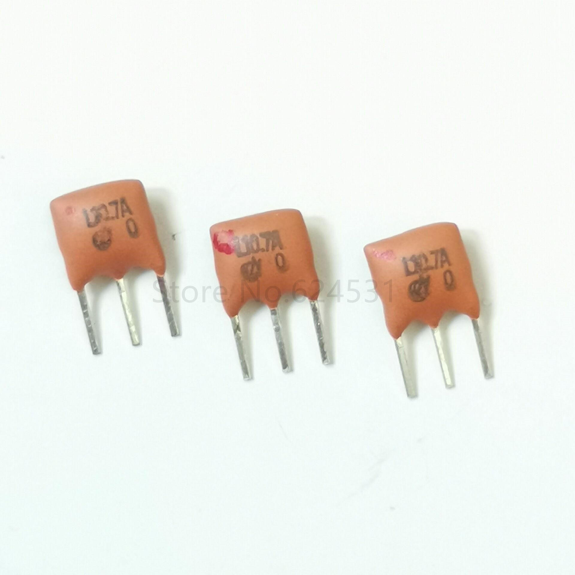 10pcs Ceramic Crystal Oscillator 10.700MHZ 10.7M ZTT10.7M LF10.7M Inline 3 Feet