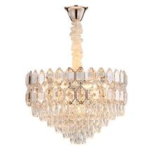 Modern Luxury Clear Crystal Chandelier Lighting AC110V 220v Lustre LED Lamp Dining Room Chandeliers Foyer Indoor Lights Fixture luxury design modern crystal chandelier led lamp ac110v 220v lustre cristal foyer chandelier lighting