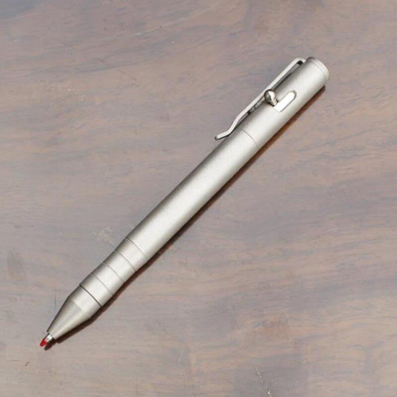 Stylo Gel givré en alliage de titane fait à la main avec pince pistolet boulon stylo à bille auto-défense EDC outil d'écriture bureau cadeau de luxe