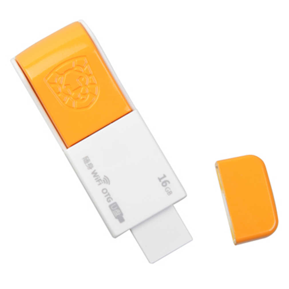 Generasi Kedua Wifi 150Mbps U001 Wireless WIFI USB Flash Drive Mini OTG USB Flash Drive OTG U Disk USB adaptor 16G