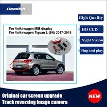 Liandlee Car Track Handle Camera For Volkswagen VW Tiguan L (5N) 2017-2019 Original Screen Upgrade Reversing Plug