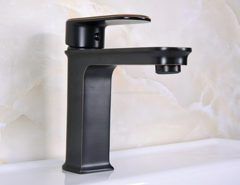 Bathroom Faucet Oil Rubbed Bronze Basin Faucet Deck Mounted Single Handle Single Hole Hot And Cold Water Tap znf665