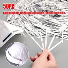 200 Pieces Metal Nose Adjuster Aluminum Strip Nose Bridge Nose Wire Bracket Adjustable Nose Clips Trimming Strip for DIY Making Accessories Sewing Crafts