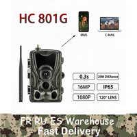 Suntek HC801A 801m 801g 4g cámara de caza 16MP Trail Cámara visión nocturna impermeable vida silvestre fotos trapos Cámara casse Scouts