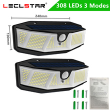 Solar-Lights For Garden Waterproof IP65 with 308 LED And 3-Modes/easy-To-Install