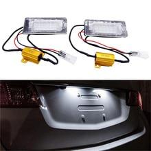 Luz LED para matrícula de coche, sin Error, apta para VW Touran Touareg Polo Jetta Passat 3C B6 2011 12 13 14, 1 par