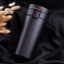Hot New 380Ml Mug with Filter Double Wall Stainless Steel Vacuum Flasks Coffee Tea Travel Mug Bottle Thermocup(China)