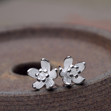 Fyla Mode 925 Sterling Silver 8mm Flower Stud Earrings For Women High Quality Girl Gift Prevent Allergy Sterling-Silver-Jewelry