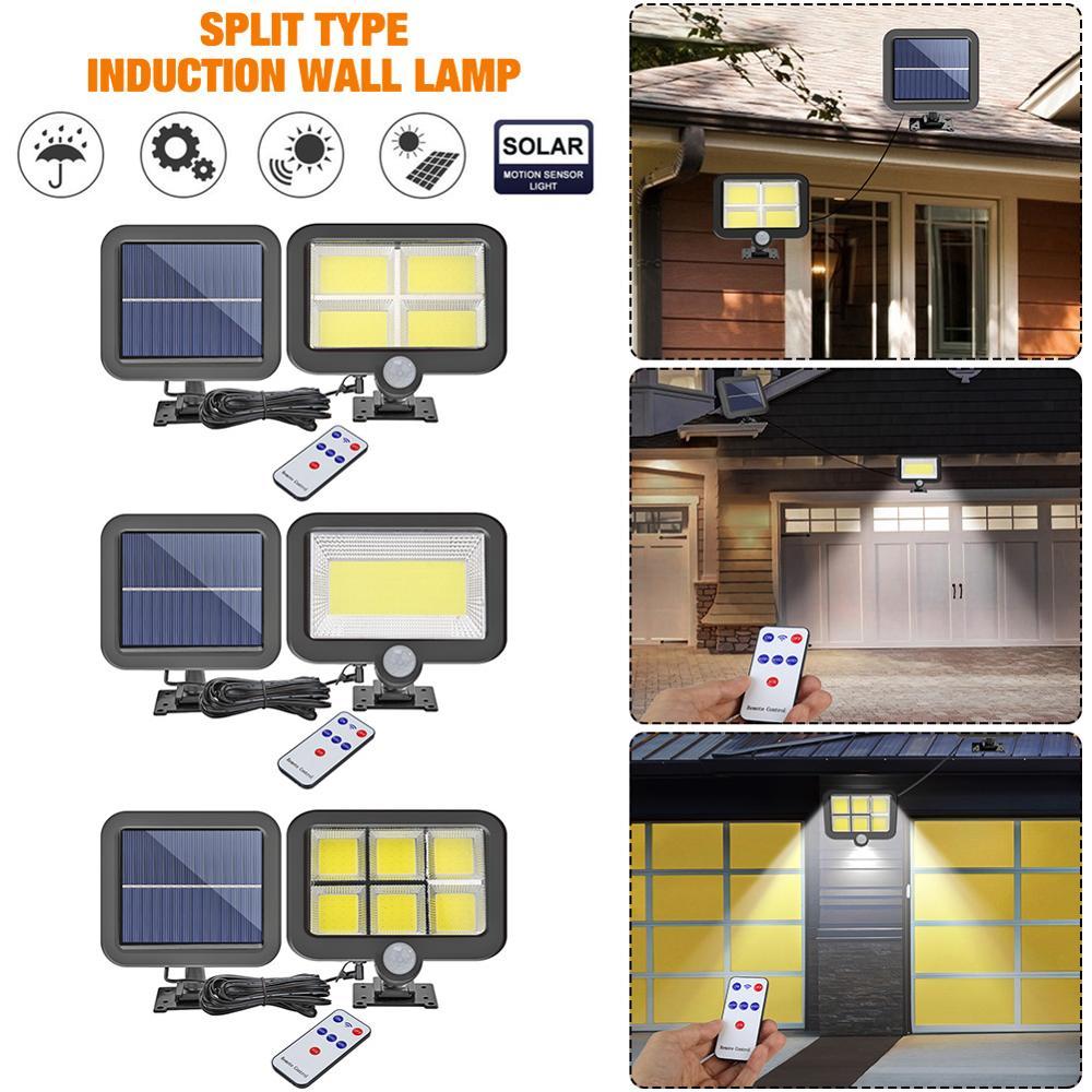 IP65 Waterproof  100/120/128LED Solar Wall Light Remote Control Motion Sensor Outdoor Garden Garage Swimming Pool Lamp