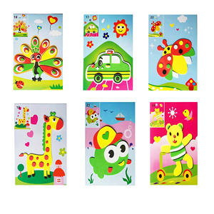 6pcs Designs 3D Eva Foam Sticker DIY Puzzle handicraft Handmade Baby Montessori Learning Education Toys for Kids 3-6 years