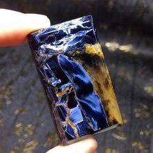 Натуральный сине желтый пьестерситовый прямоугольный подвесной